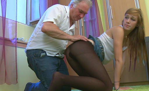Sindy gets more than she bargained for with this old dude. He fucks her good and proper